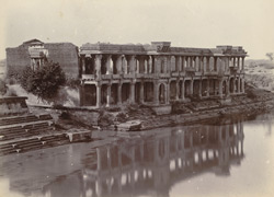 Ruined palace or harem on the west side of the Great Tank, Sarkhej, near Ahmadabad 1777